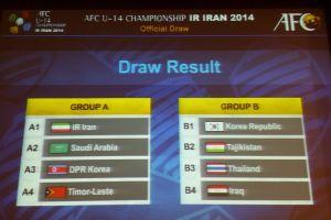 اعلام برنامه کامل رقابتهای قهرمانی زیر14 سال آسیا